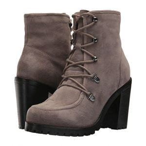 Seychelles Taupe Theater Lace Up Boot SZ 6.5